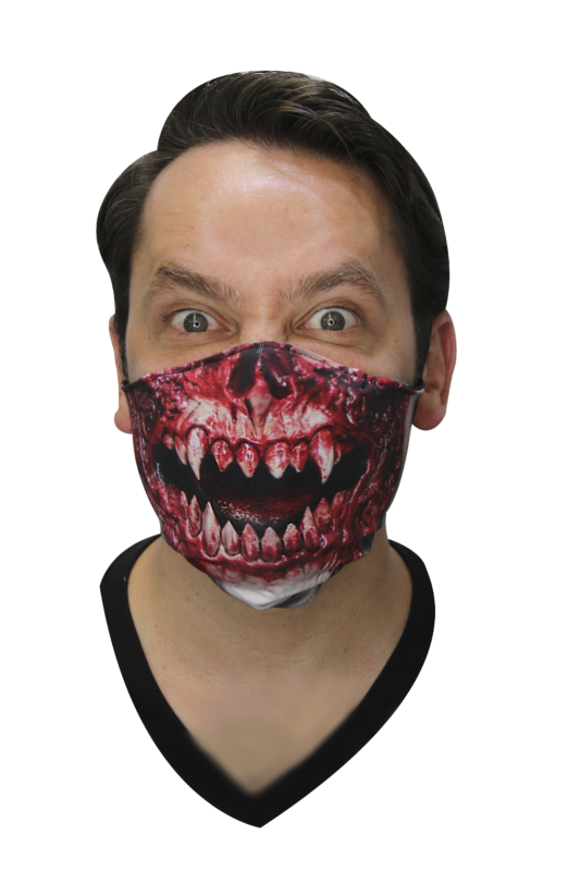 Máscaras De Accesorios: Cloth Mask Kurten - Ghoulish Productions MXLogo-white